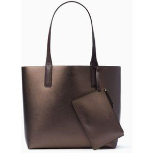 NWT LATE SPADE NEW YORK LEATHER REVERSIBLE TOTE